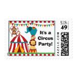 Sello de la fiesta de cumpleaños del circo