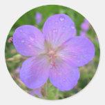 sello de la flor de la lila pegatina