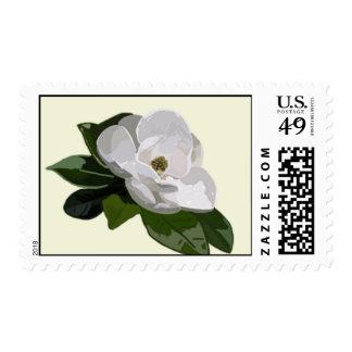 Sello de la flor de la magnolia