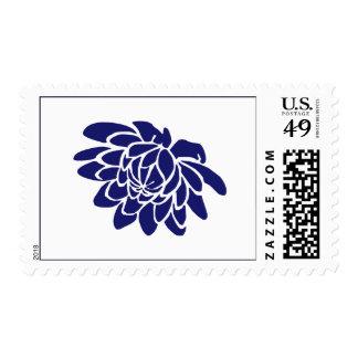 Sello de la flor de Lotus azul del zafiro