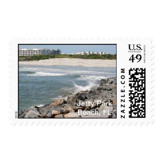 Sello de la Florida de la playa del parque del emb