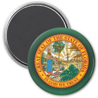 Sello de la Florida Imán Redondo 7 Cm
