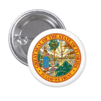 Sello de la Florida Pin Redondo 2,5 Cm