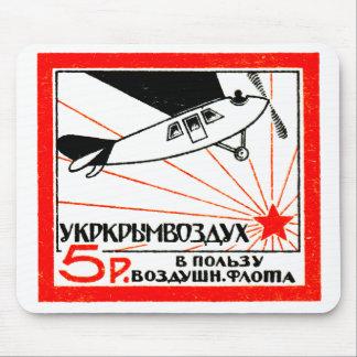 Sello de la flota de aire de 1923 rusos mousepad