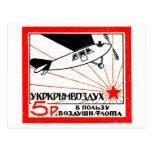 Sello de la flota de aire de 1923 rusos tarjeta postal