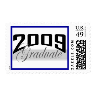 Sello de la frontera del azul del graduado 2009
