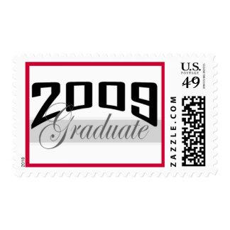 Sello de la frontera del rojo del graduado 2009