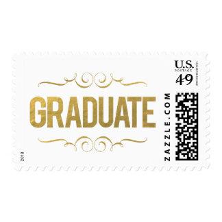 Sello de la graduación del graduado de la hoja de