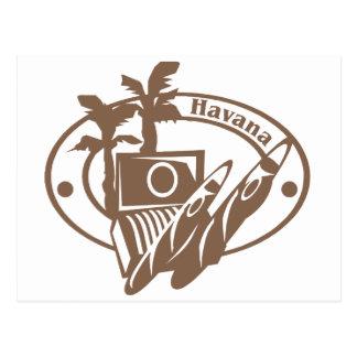 Sello de La Habana Tarjeta Postal