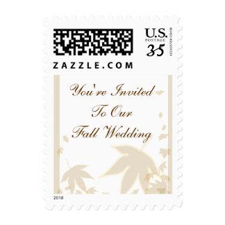 Sello de la invitación del boda de la caída de la
