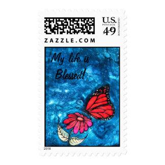 Sello de la mariposa de monarca de la gratitud: Cy