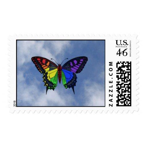 Sello de la mariposa del arco iris