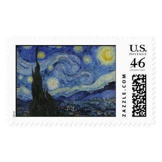 Sello de la noche estrellada de Van Gogh