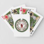 Sello de la oficina de los naipes de Papá Noel Baraja Cartas De Poker