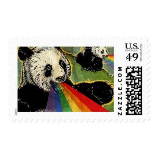 Sello de la panda del arco iris