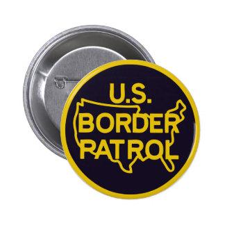 Sello de la patrulla fronteriza de los E.E.U.U. Pin Redondo De 2 Pulgadas