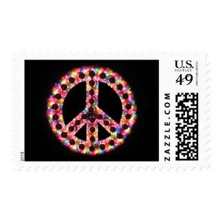 sello de la paz de 5 colores