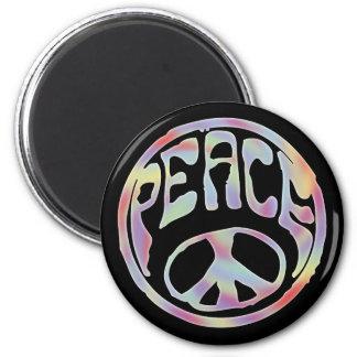 Sello de la paz - recorte imán redondo 5 cm