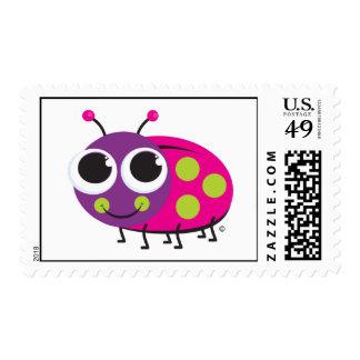 Sello de la postal de la mariquita