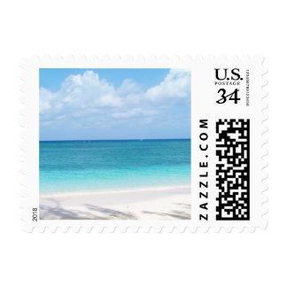 Sello de la postal de la playa