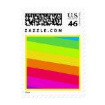 Sello de la postal del arco iris