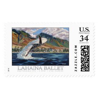 Sello de la postal del ballet de Lahaina