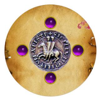 SELLO de la púrpura de la gema de los CABALLEROS T