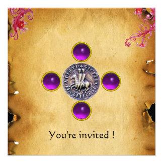 SELLO de la púrpura de la gema de los CABALLEROS T Anuncios