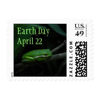 Sello de la rana arbórea del Día de la Tierra