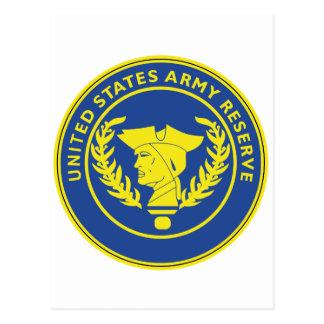 Sello de la reserva del ejército tarjeta postal