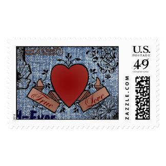 Sello de la tarjeta del día de San Valentín del