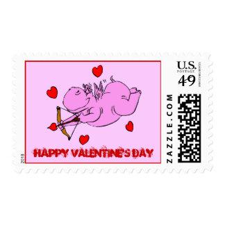 Sello de la tarjeta del día de San Valentín del am