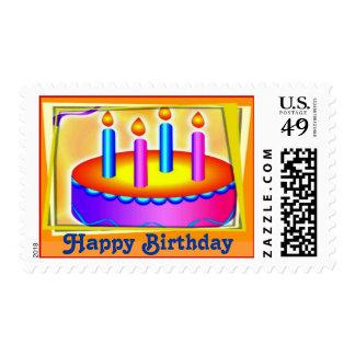 Sello de la torta de cumpleaños