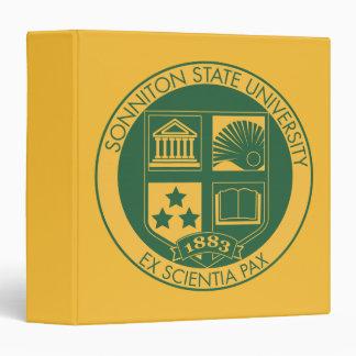 """Sello de la universidad de estado de Sonniton - co Carpeta 1 1/2"""""""