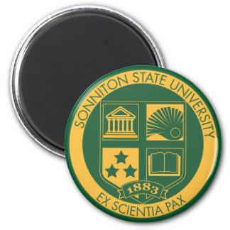 Sello de la universidad de estado de Sonniton - co Imán Redondo 5 Cm