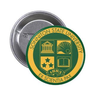 Sello de la universidad de estado de Sonniton - co Pin Redondo 5 Cm
