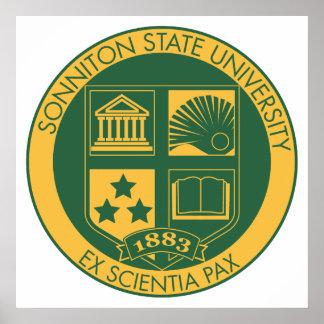 Sello de la universidad de estado de Sonniton - co Póster