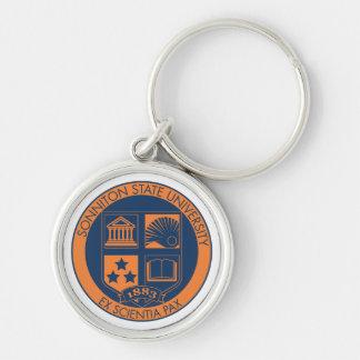 Sello de la universidad de estado de Sonniton - ma Llavero Redondo Plateado