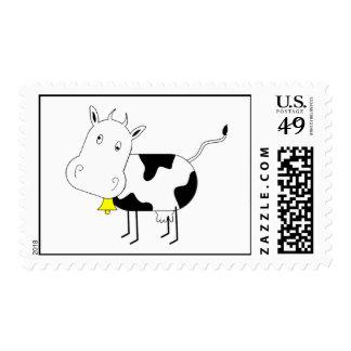 Sello de la vaca del dibujo animado