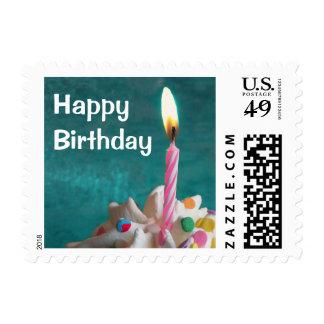 Sello de la vela del cumpleaños