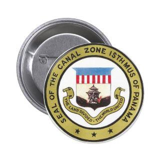 SELLO DE LA ZONA DEL CANAL DE PANAMÁ PIN REDONDO 5 CM