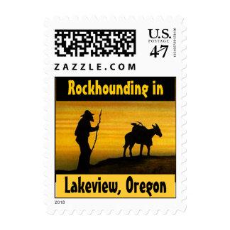 Sello de Lakeview Oregon del perro de roca de