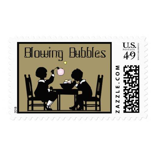 Sello de las burbujas que sopla