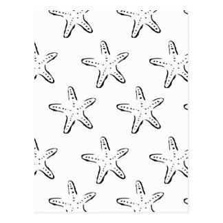 Sello de las estrellas de mar tarjeta postal
