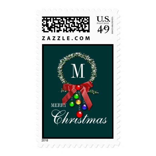 Sello de las Felices Navidad de la guirnalda del m