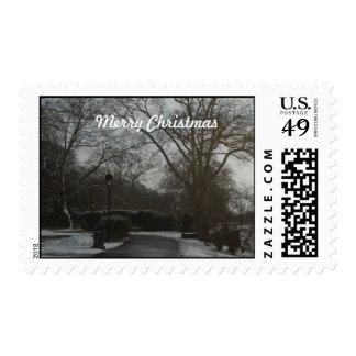 Sello de las Felices Navidad de la mañana de Phill