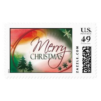 Sello de las Felices Navidad de USPS