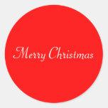 Sello de las Felices Navidad Pegatina Redonda