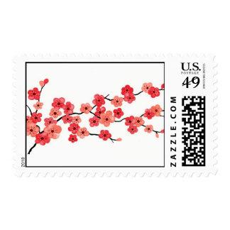 Sello de las flores de cerezo