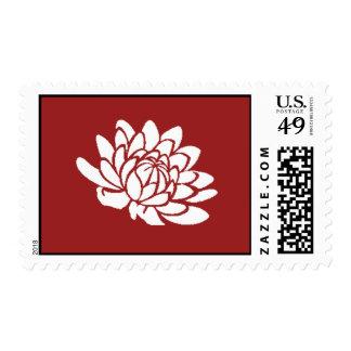 Sello de las flores de Lotus (rojo)